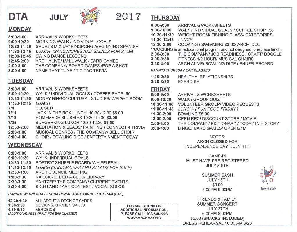 DTA July 2017