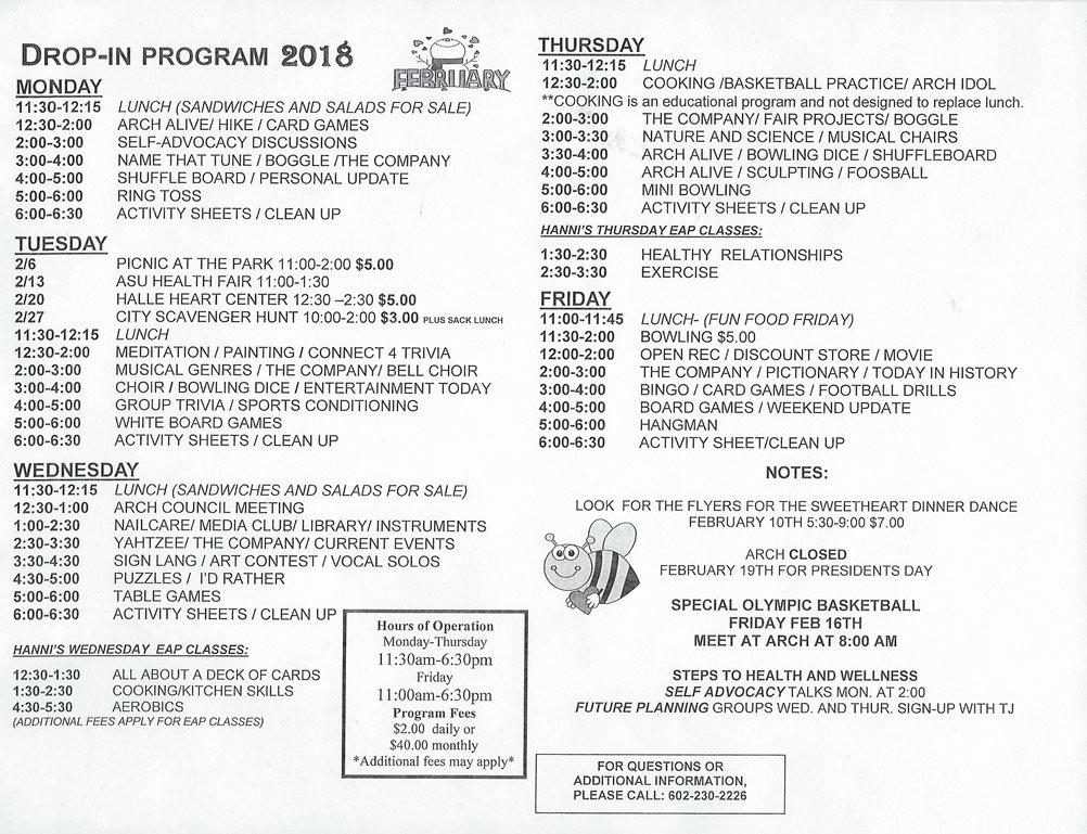 Feb 2018 Drop-In Program