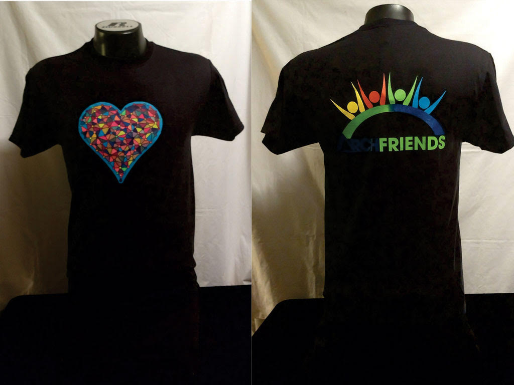 heart jewel arch friends black